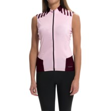 Terry Echelon Cycling Jersey - Sleeveless (For Women) in Barely Pink/Fig - Closeouts