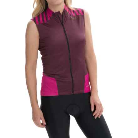 Terry Echelon Cycling Jersey - Sleeveless (For Women) in Beetroot/Fig - Closeouts