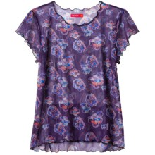 Terry Floral Mesh Shirt - Short Sleeve (For Women) in Floral Ornate - Closeouts
