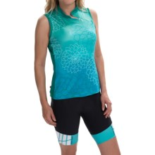 Terry Mandarin Cycling Jersey - Sleeveless (For Women) in Dahlia - Closeouts