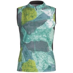 Terry Mandarin Cycling Jersey - Sleeveless (For Women) in Pied A Terre/Emerald