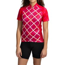 Terry Signature Cycling Jersey - Short Sleeve (For Women) in Plaid - Closeouts