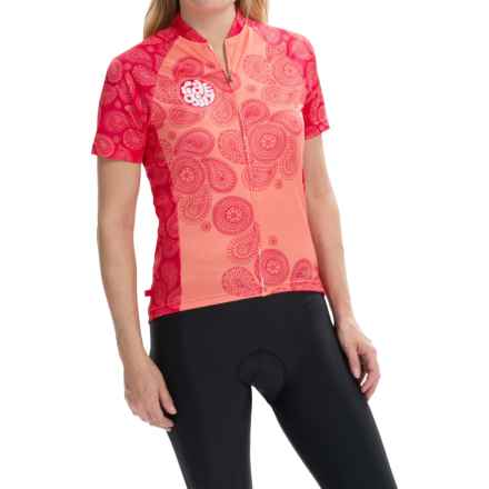 Terry Signature Cycling Jersey - Short Sleeve (For Women) in Ride Girl Paisley - Closeouts