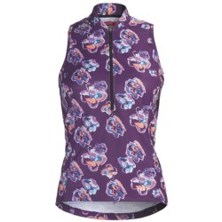 Terry Sun Goddess Cycling Jersey - Sleeveless (For Women) in Floral Ornate