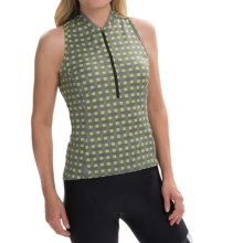 Terry Sun Goddess Cycling Jersey - Sleeveless (For Women) in Metroweave - Closeouts