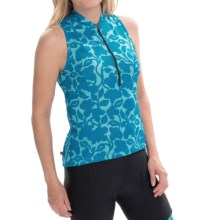 Terry Sun Goddess Cycling Jersey - Sleeveless (For Women) in Silo Floral - Closeouts