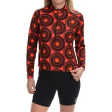 Terry Sunblocker Cycling Jersey - Zip Neck, Long Sleeve (For Women) in Wheels - Closeouts