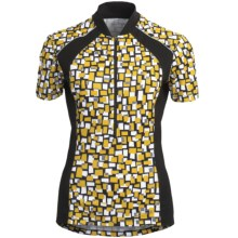 Terry Touring Cycling Jersey - UPF 50+, Short Sleeve (For Women) in Rubix - Closeouts