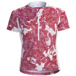 Terry Touring Cycling Jersey - UPF 50+, Short Sleeve (For Women) in Rubix