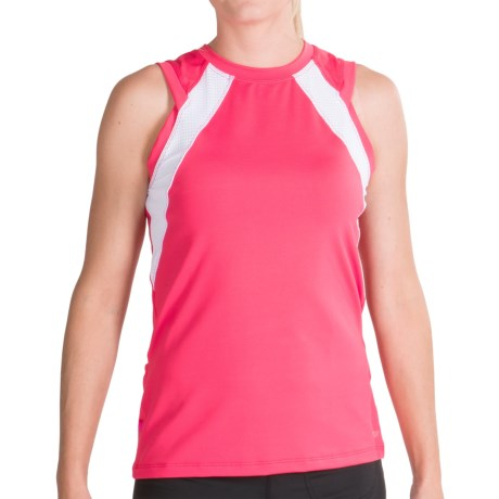 Terry Zephyr Cycling Tank Top (For Women) in Berry/White