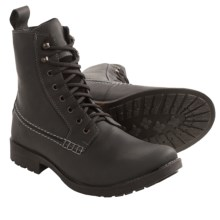 Testosterone Hangin' In Lace-Up Boots (For Men) in Black Leather - Closeouts