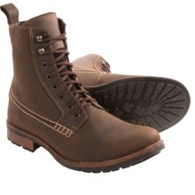 Testosterone Hangin' In Lace-Up Boots (For Men) in Brown Leather - Closeouts
