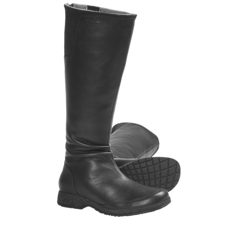 Teva Afton Boots - Leather (For Women) in Black
