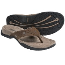 Teva Agate Leather Thong Sandals (For Men) in Cigar - Closeouts