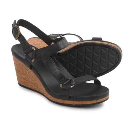 Teva Arrabelle Universal Wedge Sandals - Leather (For Women) in Black - Closeouts
