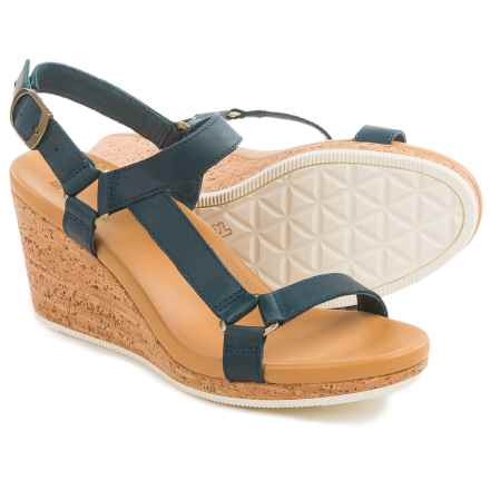 Teva Arrabelle Universal Wedge Sandals - Leather (For Women) in Navy - Closeouts