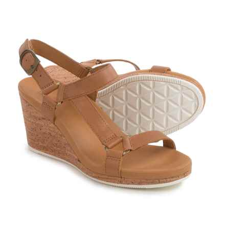 Teva Arrabelle Universal Wedge Sandals - Leather (For Women) in Tan - Closeouts
