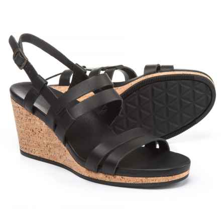 Teva Arrabelle Wedge Sandals - Leather (For Women) in Black - Closeouts