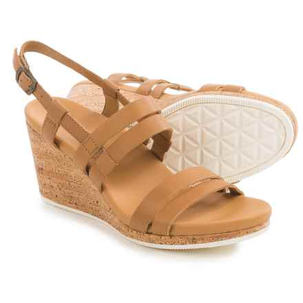 Teva Arrabelle Wedge Sandals - Leather (For Women) in Tan - Closeouts