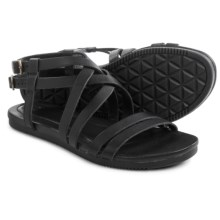 Teva Avalina Crossover Leather Sandals (For Women) in Black - Closeouts