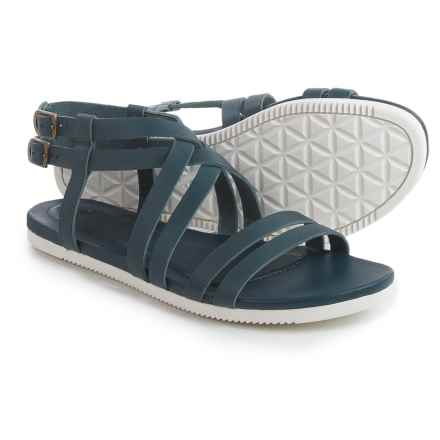Teva Avalina Crossover Leather Sandals (For Women) in Navy - Closeouts