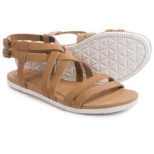 Teva Avalina Crossover Leather Sandals (For Women) in Tan - Closeouts