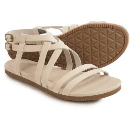 Teva Avalina Crossover Leather Sandals (For Women) in White - Closeouts