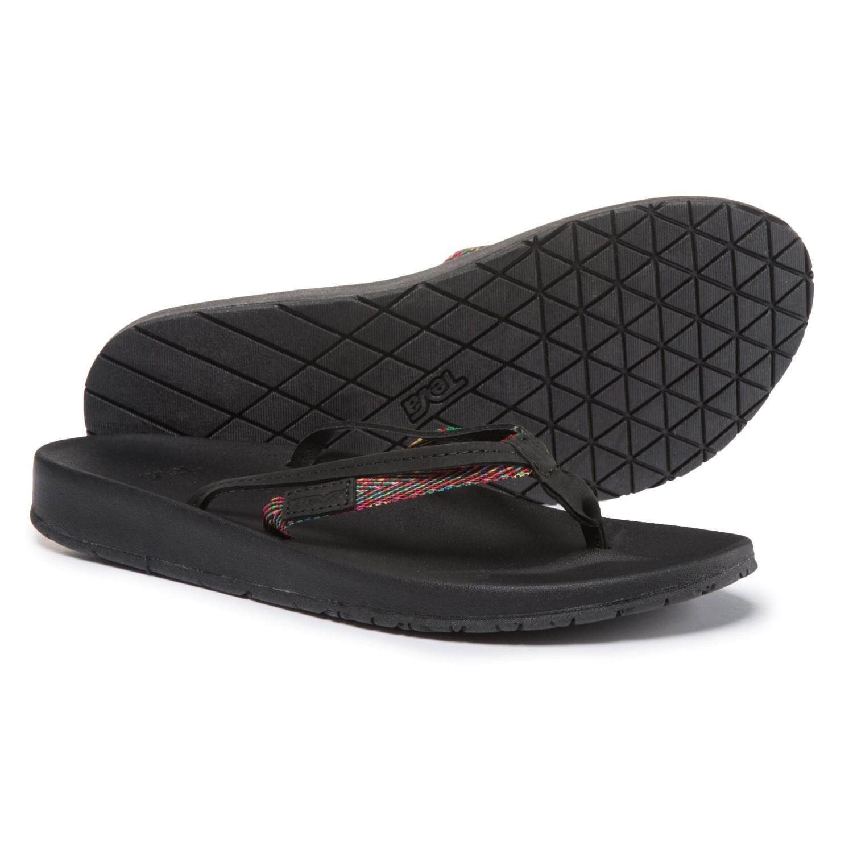 5878ebd4bdfebf Teva Azure 2-Strap Flip-Flops (For Women) in Black Multi ...