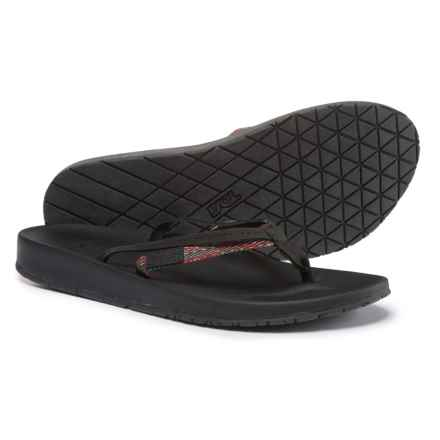Teva Azure 2-Strap Flip-Flops (For Women) in Black Multi - Closeouts