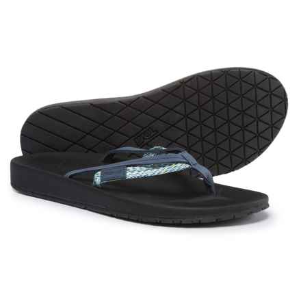 Teva Azure 2-Strap Flip-Flops (For Women) in Blue Multi - Closeouts