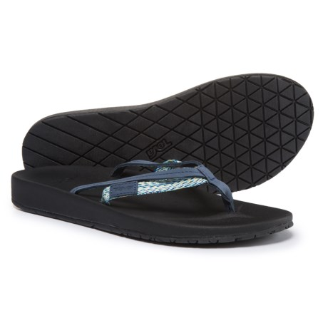 Teva Azure 2-Strap Flip-Flops (For Women) in Blue Multi