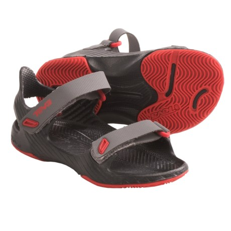 Teva Barracuda Sandals (For Toddlers) in Charcoal Grey