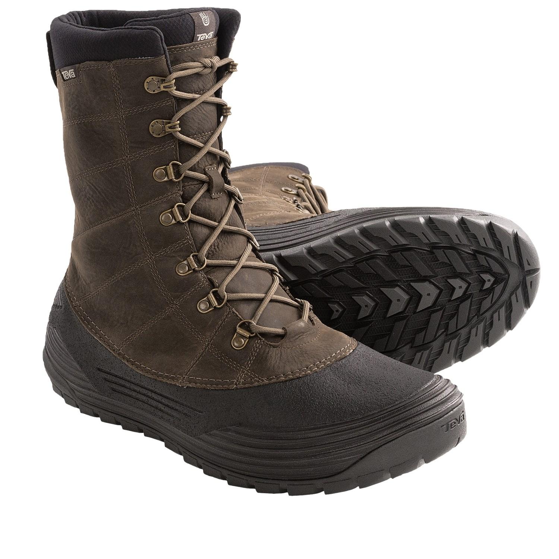 Waterproof winter boots for men