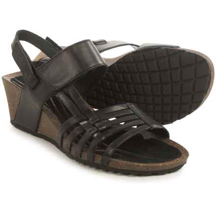 Teva Cabrillo 3 Sandals - Leather, Wedge Heel (For Women) in Black - Closeouts
