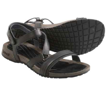 Teva Cabrillo Crossover Sandals - Leather (For Women) in Black - Closeouts