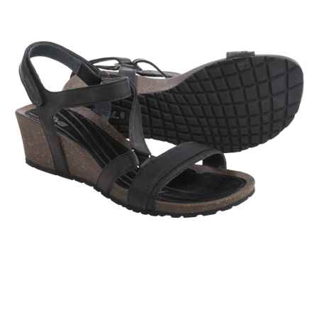 Teva Cabrillo Crossover Wedge Sandals - Leather (For Women) in Black - Closeouts