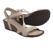 Teva Cabrillo Crossover Wedge Sandals - Leather (For Women) in Dune - Closeouts