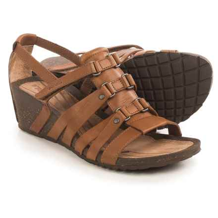 Teva Cabrillo Sandals - Leather, Wedge Heel (For Women) in Tan - Closeouts