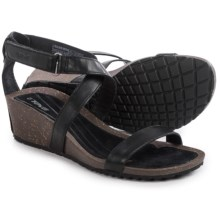 Teva Cabrillo Strap Wedge 2 Sandals - Leather (For Women) in Black - Closeouts