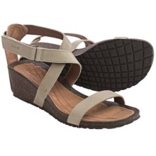 Teva Cabrillo Strap Wedge 2 Sandals - Leather (For Women) in Crockery - Closeouts