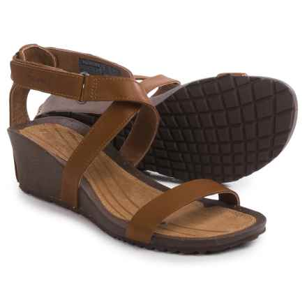Teva Cabrillo Strap Wedge 2 Sandals - Leather (For Women) in Tan - Closeouts