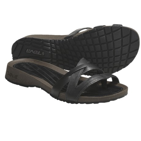Teva Cabrillo Toe Post Sandals (For Women) in Black