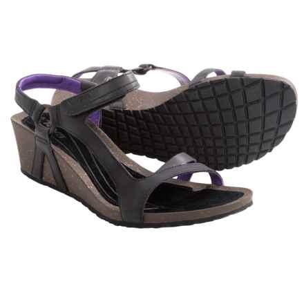 Teva Cabrillo Universal Wedge Sandals - Leather (For Women) in Black/Purple - Closeouts