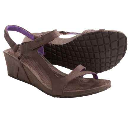 Teva Cabrillo Universal Wedge Sandals - Leather (For Women) in Chocolate Brown/Purple - Closeouts