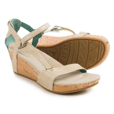 Teva Capri Wedge Sandals (For Women) in Pearlized Ivory - Closeouts