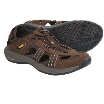Teva Churnium Leather Sport Sandals (For Men) in Turkish Coffee
