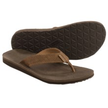 Teva Classic Flip Leather Diamond Sandals (For Men) in Toasted Coconut - Closeouts