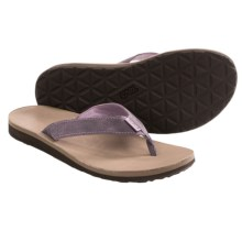 Teva Classic Flip Leather Diamond Sandals (For Women) in Sea Fog - Closeouts