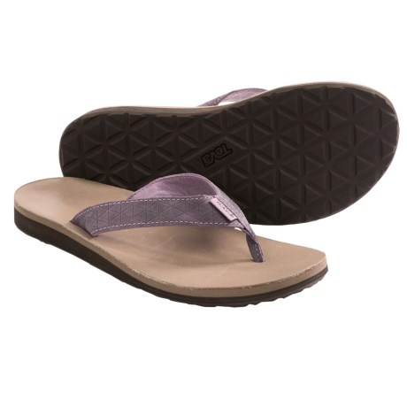 Teva Classic Flip Leather Diamond Sandals (For Women)