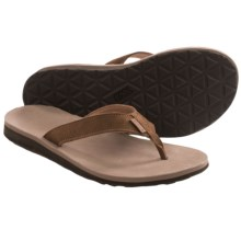 Teva Classic Flip Leather Diamond Sandals (For Women) in Toasted Coconut - Closeouts